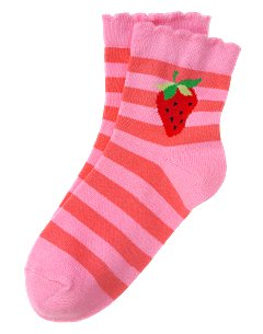 Striped Strawberry Sock