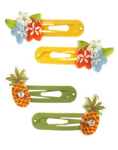 Kid Girl Pineapple Snap Clips
