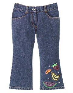 Fruit Denim Crop Pant