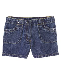 Rhinestone-Pocket Short
