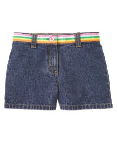 Ribbon Trim Denim Short