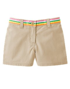 Ribbon Trim Khaki Short
