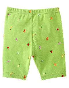 Fruit Print Bike Short