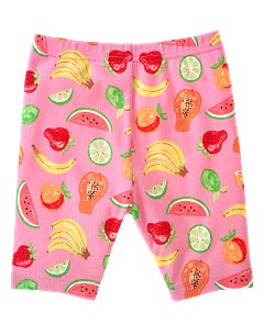 Pink Fruit Print Bike Short