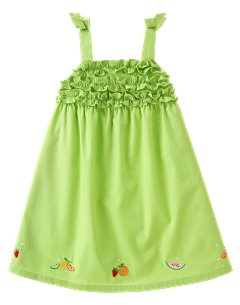 Ruffled Fruit Woven Dress
