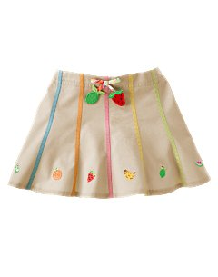 Embroidered Fruit Skort
