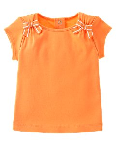Basic Orange Ribbon Tee