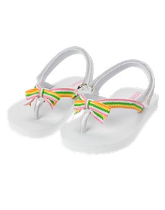 Multi-Stripe Ribbon Flip Flop