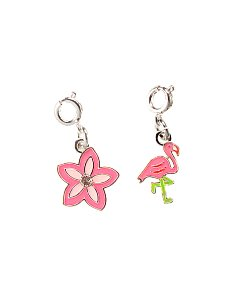 Flamingo and Flower Charms