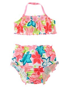 Hibiscus Two-Piece Swimsuit