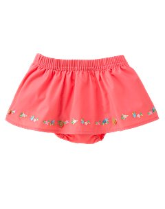 Floral Embroidered Skirted Bloomer