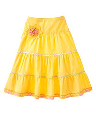 Sunflower Ric Rac Tiered Skirt