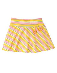 Stripe Sunflower Skort
