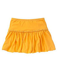Mojave Sunset Orange Bubble Skirt